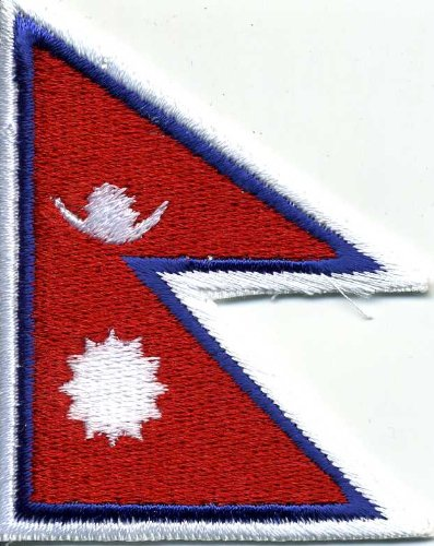Aufnäher - Nepal Fahne - 21637 - Gr. ca. 8 x 5 cm