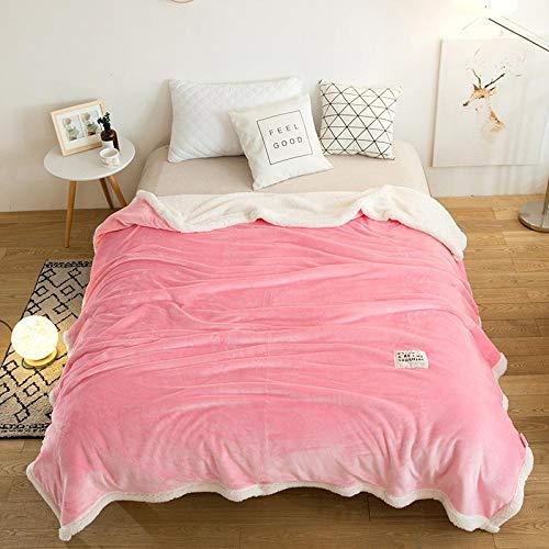 Decke Heimtextilien Decke Decke dicke Flanelldecke einfache einfarbige Single Doppel Klimaanlage Decke Nickerchen Decke Blatt Decke - F_90 * 120cm