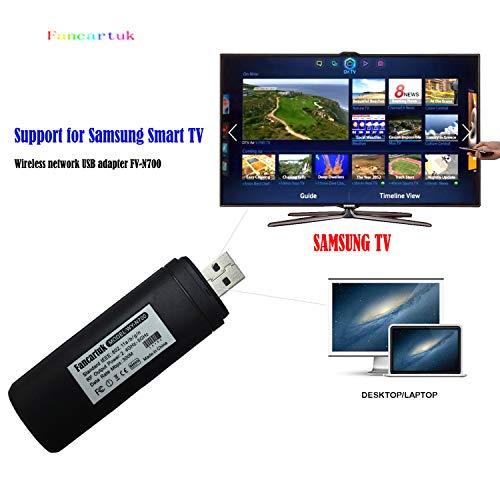 Adattatore Wi-Fi wireless USB TV, Fancartuk 802.11 AC 2.4 GHz e 5 GHz Dual-Band di rete wireless USB adattatore WiFi per Samsung Smart TV WIS12ABGNX WIS09ABGN 300 m