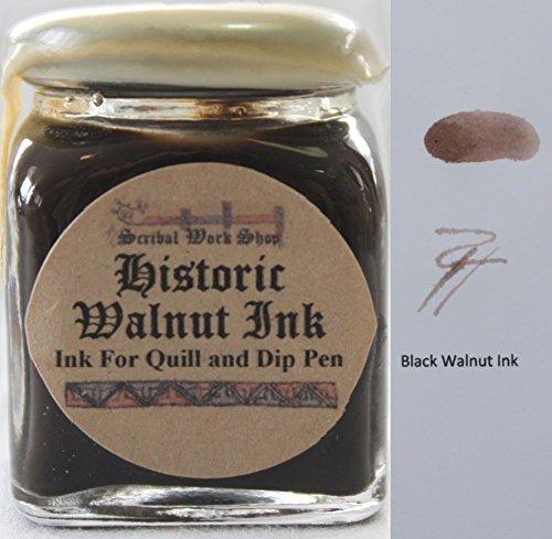 Historic Black Walnut brown ink for dip pens