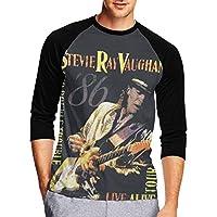 Stevie Ray Vaughan スティービーレイヴォーン メンズ Tシャツ 半袖 ベースボール Tシャツ 丸首 柔らかい 春秋冬 カジュアル ホーム シャツ アダルト 綿 S~Xxl スポーツ インナーシャツ T-Shirt