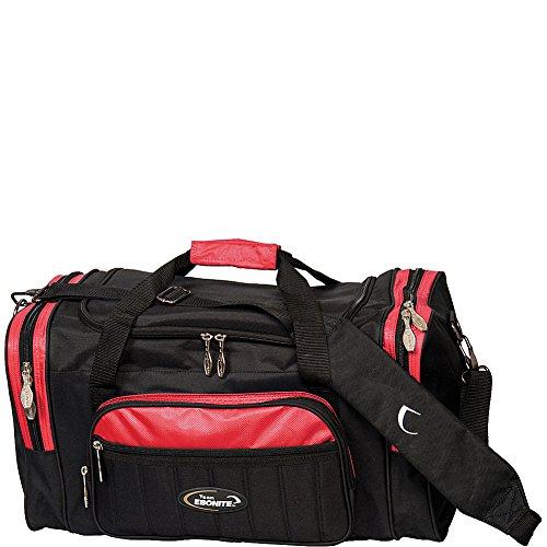 Ebonite Conquest Double Tote Bowling Bag, Unisex, BAG151RDBK, schwarz/rot, Einheitsgröße