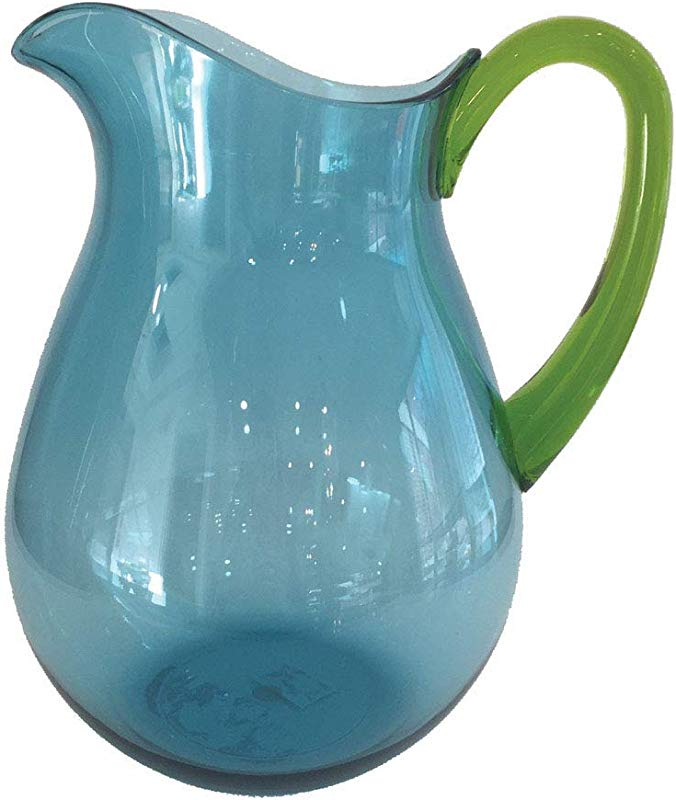 Water Pitcher Plastic Pitcher Water Container Iced Tea Container Lemonade Pitcher Juice Pitcher Iced Coffee 64oz Half Gallon Blue