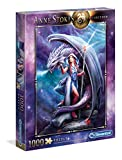 Clementoni - 39525 - Anne Stokes Puzzle -  Dragon Mage - 1000 Pezzi - Made In Italy - Puzzle Adulto
