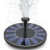 FEELLE Solar Fountain, Solar Bird Bath Fountain Pump 1.4W Solar Powered Water Pump Kit for Birdbath, Pond, Pool and Outdoor Garden