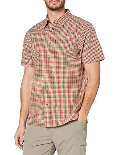 FJÄLLRÄVEN Svante Seersucker Shirt SS Homme, Travellers Shorts Herren, Bleu Marine, 60, Vert, FR (Taille Fabricant : XS)