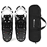 Goplus 21'/25'/30' Snowshoes for Men and Women, Lightweight Aluminum Alloy All Terrain Snow Shoes with Adjustable Ratchet Bindings with Carrying Tote Bag