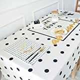 NO BRAND Ypwh Mantel de Mesa de Comedor Minimalista Moderno Mantel Rectangular Mesa de Centro de algodón y Lino 110 * 110cm