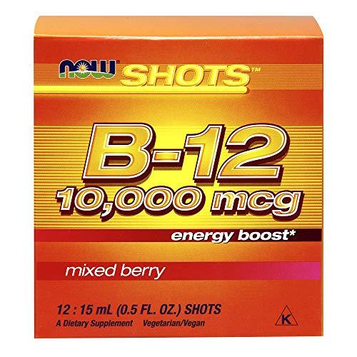 Now Foods - Vitamina B12 10000mcg - Mezcla de Bayas - 12 x 15ml shots