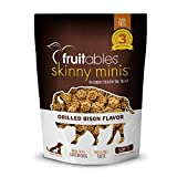 Fruitables Skinny Minis Soft Chews for Dogs | Grilled Bison Flavored Treats | 5 Ounces