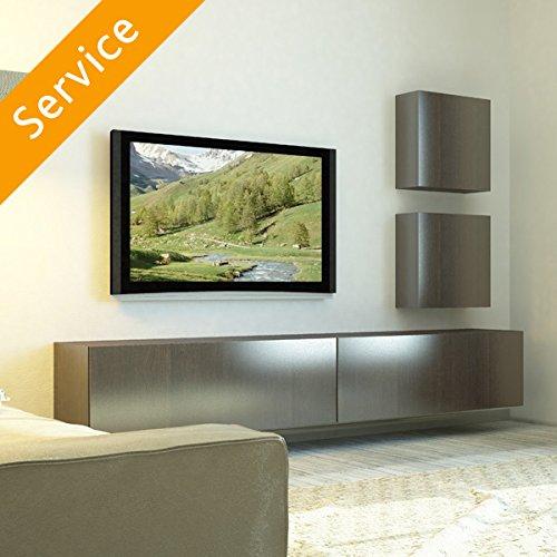 TV-Wandmontage - mehr als 70 Zoll, Kabel unter Putz, Trockenbauwand