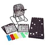 Denny International Bingo Lotto Lotto Unidad de Tambor Juego de Bingo y Muchos Accesorios