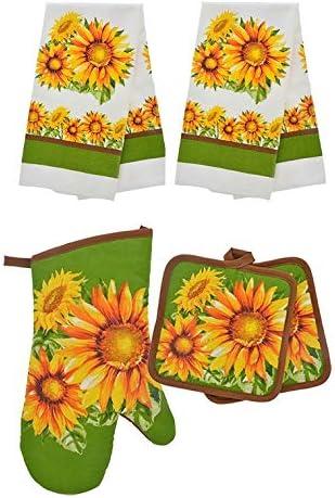 HomeConcept half 5 Piece Kitchen Towel Towels Set Pothol Includes 2 Bargain sale
