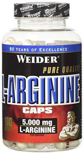 Weider Integratore Alimentare di L-Arginina Idrocloruro - 100 Capsule, 138 gr
