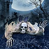 Halloween Zombie Groundbreaker, 65 Inch Halloween Decorations Skeleton, Halloween Prop for Halloween Outdoor, Lawn, Yard, Patio Decoration, Graveyard Haunted House Decorations