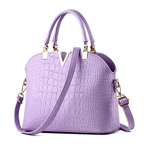 JHVYF Lovely Crossbody Bags Tote Satchel Purse for Girls Feminine Lavender