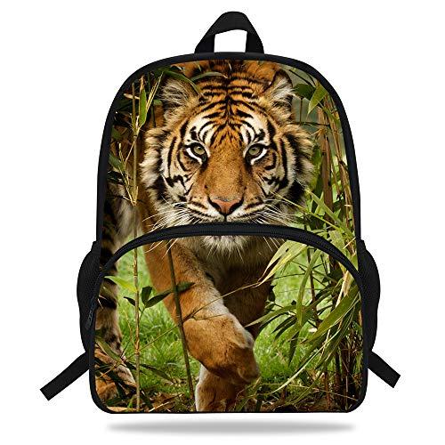 VEEWOW Cool Tiger Backpack For School Kids Animal Print Bag For Children (D1090a)