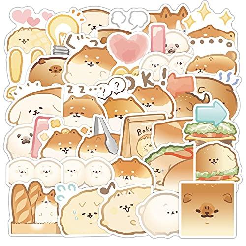 DONGJI Bread Dog Cartoon Sticker Cute Cute Pet Trolley Case Caja del teléfono Graffiti Sticker 40pcs