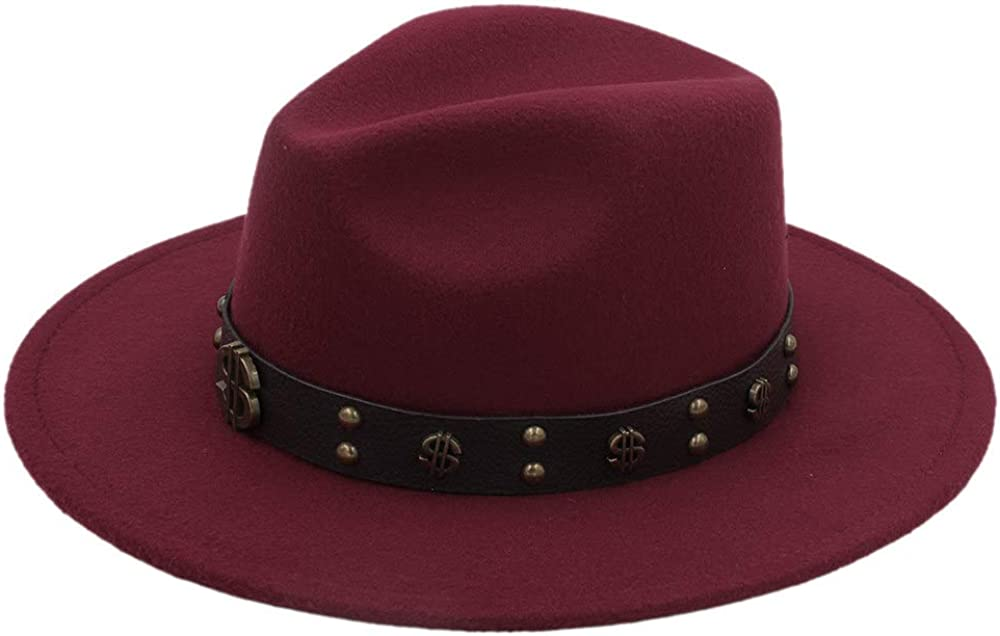 L.W.SUSL Felt Fedora Hat with Tassel Bohemia Ribbon Church Godfather Sombrero Caps Top Hats