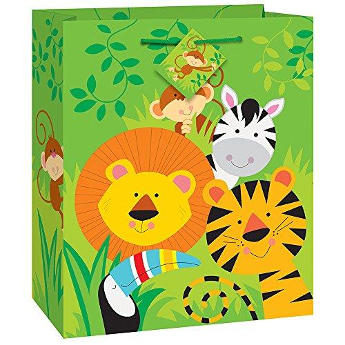 Unique Party 52168 - Sacchetto regalo con animali della giungla