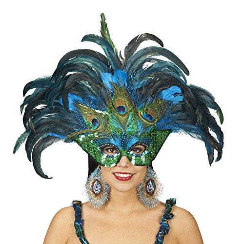 Orlob Paradiesvogel Pfau Maske zum Kostüm Karneval Fasching