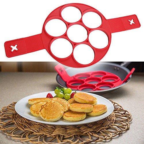 Perfect Placed Moule à crêpes en silicone anti-adhésif réutilisable, pour la cuisine