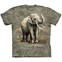マウンテン1518681アジアゾウキッズTシャツ - ミディアム