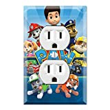 Duplex Wall Outlet Plate Décor Wallplate - Paw Patrol Ryder Marshall Chase Zuma Skye