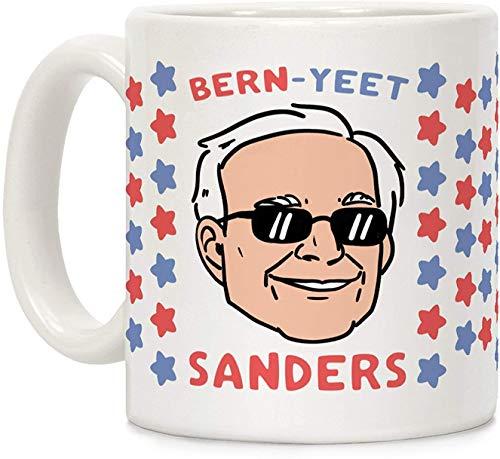 Koffie mok, Thee Beker, Bern-YEET Sanders Wit 11 Ounce Keramische Koffiemok