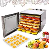 Hauture Food Dehydrator Machine, 6 Drying Racks, Multi-Tier Food Preserver,Temperature Control and Airflow Circulation for Jerky/Meat/Beef/Fruit/Vegetable, BPA Free/600W