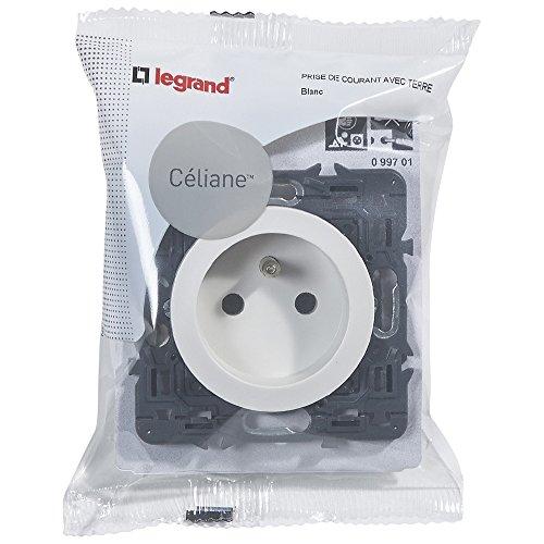 Legrand 099701 Céliane Prise de Courant avec Terre, Blanc