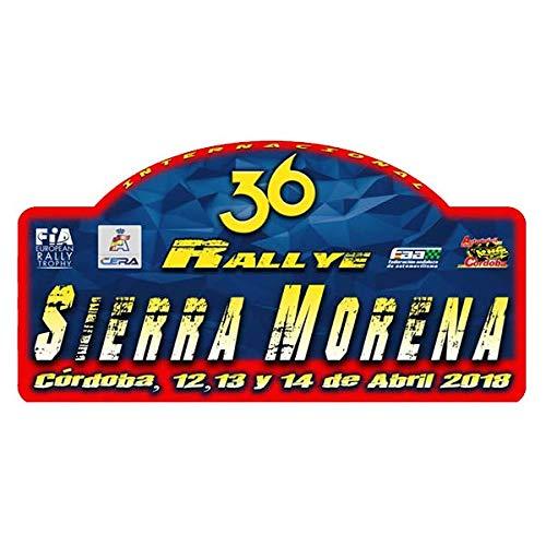 Pegatina Placa Rallye Sierra Morena 2018 PR105