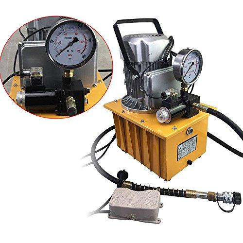 SHIOUCY Elektrohydraulische Pumpe 700 Bar mit Pedalventil Elektrische Hydraulikpumpe manuelles Ventil Pumpe A Motor