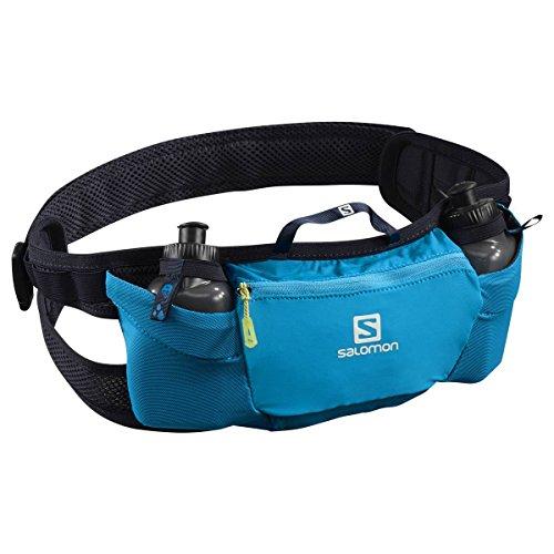Salomon Cinturón de running con 2x botellas de 200 ml, energy belt, azul (Hawaiian Surf y Night Sky)