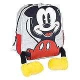 Cerdá - Mochila Infantil Mickey con Aplicaciones de Color Rojo - Licencia Oficial Disney Studios