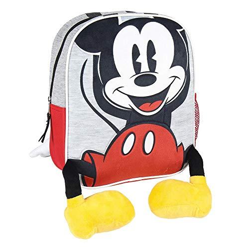 Cerdá: Mochila Infantil Mickey con Aplicaciones de Color Rojo   Licencia Oficial Disney