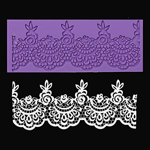 Bluelover Fleur Dentelle Moule En Silicone Pour Fondant Sucre Craft Moule Pour Gâteau De Mariage Décoration