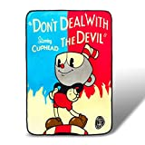 Desconocido Cuphead Don't Deal with The Devil Lightweight Fleece Blanket   45 x 60 Inches