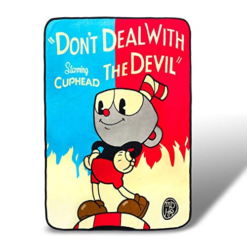 Cuphead Don't Deal with the Devil Fleece Throw Blanket 45 x 60 Inches