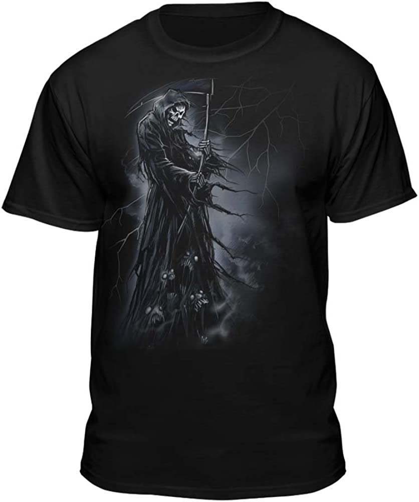 Teelocity Grim Reaper Standing On Souls with T-Shirt Very popular Lightning High order