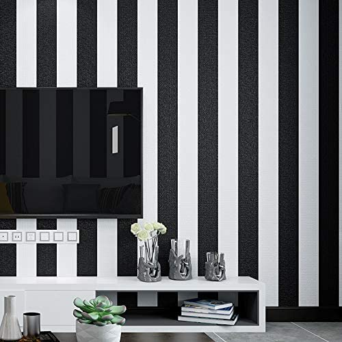 Black and White Stripes Wallpaper Non self Sticking No 18686 product image
