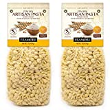 FRAMORE Conchigliette Pasta Italian one pound Pack of two Authentic Made Imported from Italy Gourmet Artisan durum wheat semolina flour bronze cut extruded dried in a bag Dry Macaroni Small Shells