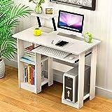 LJT Computertisch Schreibtisch Gefaltet kompakt Moderner Klapptisch Holz...