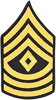 Army First Sergeant Stripes E 9 Dress Blue (Gold on Blue) Enlisted Rank Male Size Pair Multicolored