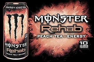 16 Pack - Monster Rehab - Peach Tea + Energy - 15.5oz