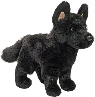Douglas Harko - Perro de pastor alemán de peluche, color negro