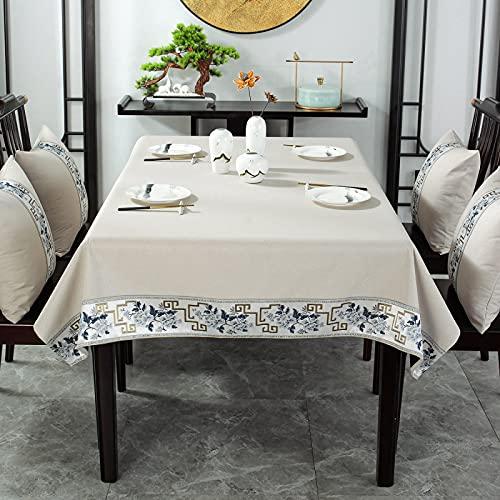 Mantel Moderno Simple Impreso PVC Impermeable A Prueba De Aceite Y No Limpiador Mantel Rectangular Engrosado con Aislamiento Térmico Y Mantel Anti-Escaldado Adecuado para Mesas De Café Largas