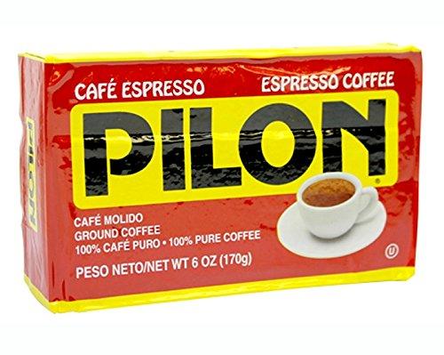 Cafe Pilon Espresso Ground Coffee 6 Oz Brick Cuban-Style