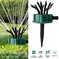 Tickas 360°調整可能な柔軟な12チューブガーデン芝生自動複数ヘッドスプリンクラー、庭のスプリンクラー