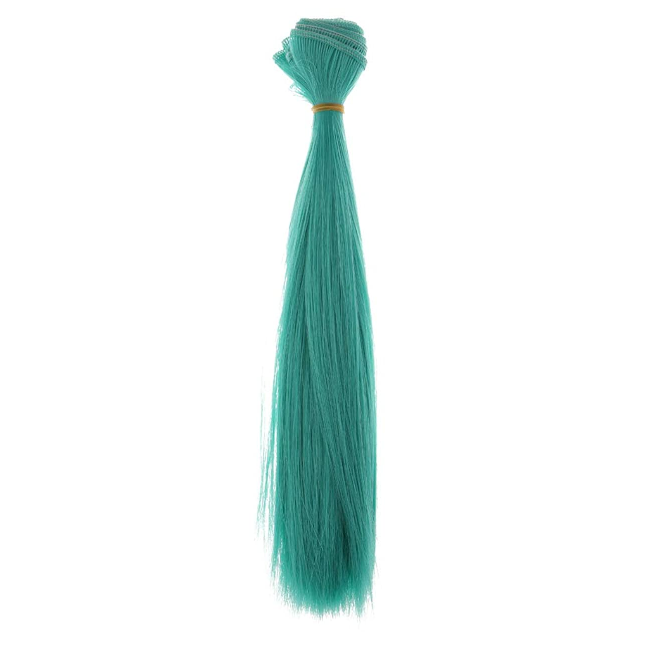 高く学ぶ動かすDYNWAVE 人形 かつら ヘアピース ウィッグ DIY ストレートヘア ブライスドール用 全6色 - ダークグリーン